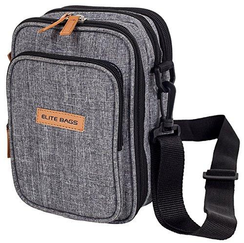 ELITE BAGS FIT´S EVO Diabetikertasche (grau-bitone)