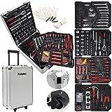 Masko 849 Werkzeugkoffer Werkzeugkasten Werkzeugkiste Werkzeug Trolley  Profi  849 Teile  Qualitätswerkzeug  Silber