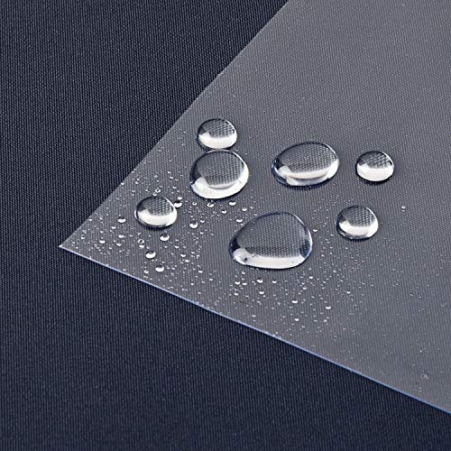 laro Tischfolie Tischdecke Transparent Durchsichtig Abwaschbar Garten-Tischdecke Tischschutz-Folie PVC Plastik-Tischdecken Wasserabweisend Eckig 0,3 mm Dicke Meterware |07|, Größe:80x80 cm