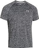 Under Armour Herren UA Tech Ss Fitness T-Shirt, Schwarz (Schwarz Heather), XXL