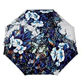 LifeWheel Herren Damen Outdoor Camping Leicht Taschenschirm Regenschirm Regen Sonnenschirm (Medium, BLUELOVER)