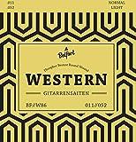 Gitarrensaiten für Westerngitarre  Erstklassige Stahl Phosphor Bronze Saiten für Western-Gitarre & Akustik-Gitarre (6-Saiten Set) | BONUS: Gratis Ebook + 3 Plektren