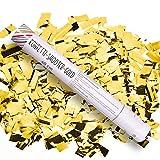 Schramm 12 Stück Konfetti Shooter Gold 40cm Konfetti Popper Kanone Kanonen Party Sylvester Geburtstag Hochzeit 12er Pack