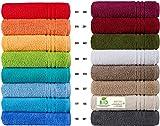 Handtücher Serie Milano BIO-Baumwolle in Luxusqualität, in 7 Größen und 16 Trendfarben - Grösse Badetuch 100x150 cm, Farbe Beere 040