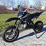Viron Pocketbike 49cc Enduro Pocket Cross Bike Mini Motorrad Minibike Dirtbike (schwarz)
