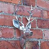 Hirschkopf aus Handpoliertem Aluminium Haus oder Garten Deko