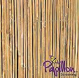 Bambus-Sichtschutz aus Leisten - 4m Rolle, 2m Hoch - Papillon