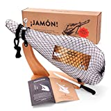 Jamon-Box Nr. 2 - Serrano-Schinken 6,5kg im Geschenk-Set mit Zubehör - 12 Monate gereifter Hinterschinken aus Spanien inklusive Schinkenständer, Schinkenmesser & Schneide-Anleitung