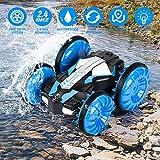 KOOWHEEL RC Auto 4WD Fernsteuerung 2.4GHz 40M Wiederaufladbar RC Stunt Auto Rennauto mit 360° Drehung für Kinder - Blau