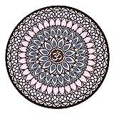DZX Meditationsmatte/Tragbare Yogamatte, Rutschfeste Naturkautschukmatte - Für Männer Und Frauen, Perfektes Spirituelles Geschenk (60x60cm),E