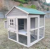 Hühnerstall Hühnerhaus Chickenhouse Nr. 04 'Pickerparadies' mit Eierbox und Freilauf