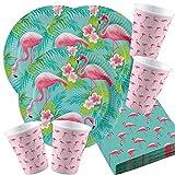 Amscan 52-Teiliges Flamingo Party Set Nr. 1 für 16 Personen Geburtstags Deko Tischdeko