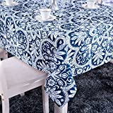 GWELL Tischdecke Eckig Abwaschbar Oxford Tischtuch Pflegeleicht Schmutzabweisend Farbe & Größe wählbar