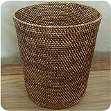 Rattan Papierkorb Burma, Flechtkorb Basket Korb Deko Unikat Handarbeit Natur rund