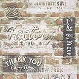Rasch Portfolio New York Terrakotta Rote Ziegelwand Retro Schilder Tapete 238600