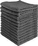 Waschlappen-Set - Gesichtstücher 700 g/m² - (12 Stück, Grau) extra weich - Waschmaschinenfest - sehr saugfähig - von Utopia Towels