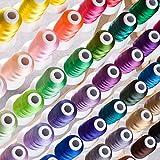 Simthreads 63 Farben Polyester Stickgarn - 500 Meter, für Brother / Babylock / Janome / Kenmore / Singer Stickereimaschine