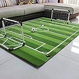 Everyday Home- Baby Kinder Fußballplatz Spielmatte Fußball Tor Kleine Größe Große Weiche Fußball Teppich (größe : 150cm*200cm)