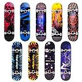 Skateboard Deck Funboard Holzboard komplett 80x20cm Ahornholz - pink Starlight