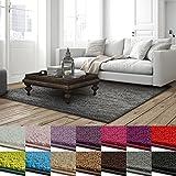 casa pura Shaggy Teppich Barcelona   weicher Hochflor Teppich für Wohnzimmer, Schlafzimmer, Kinderzimmer   GUT-Siegel + Blauer Engel   Verschiedene Farben & Größen   160x230 cm   Grau