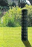 Gartenzaun auf Rolle, grün, 1m Höhe x 25m Länge; Euro-Gartenzaun Maschendrahtzaun