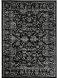 benuta Vintage Teppich im Used-Look Velvet Schwarz 160x230 cm | Moderner Teppich für Schlafzimmer und Wohnzimmer