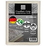 Premium Antirutschmatte aus Naturkautschuk - Comfort-Grip Modell: NATUR 80x200 cm - Für alle Hartböden, auch für hochwertige Böden wie Parkett, Stein, Kork, etc. - Extra dünne rutschhemmende Teppichunterlage