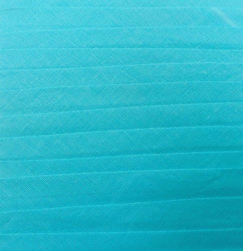 Schrägband / Textilband - Blende 'Türkis' 20 mm / Baumwolle (10 Meter)