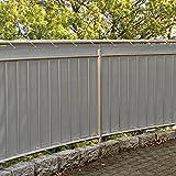 Balkonsichtschutz Balkonverkleidung mit Kordel 600 x 90 cm Windschutz Sichtschutz Polyester
