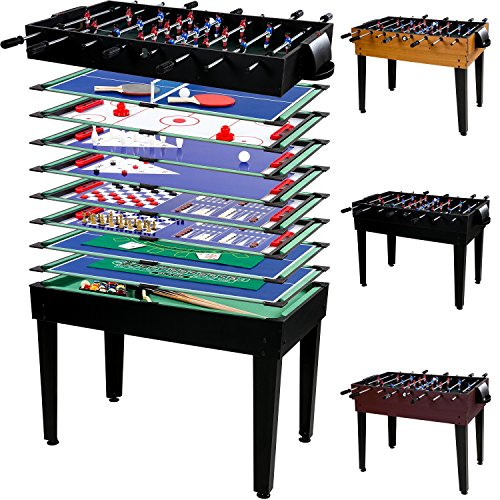 Multigame Spieletisch 'Mega' 15 in 1, inkl. komplettem Zubehör, 3 Dekorvarianten
