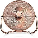 Brandson - Retro Windmaschine / Ventilator im Kupfer-Design (Retro-Stil) | Standventilator 50cm | Leistungsaufnahme 120W | hoher Luftdurchsatz | Bodenventilator