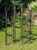 Paravent Pergola Rankhilfe Blumenampel 16kg Eisen antik Stil braun iron
