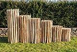 Staketenzaun Haselnuss Höhen 50 cm - 120 cm, Länge 5 Meter, Lattenabstände 3-5 cm und 7-9 cm (Länge x Höhe: 500 x 50 cm, Lattenabstand 7-9 cm)