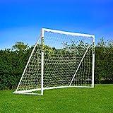 FORZA - 2,4 x 1,8 m wetterfestes Fußballtor. Neu: auch mit abnehmbarer Torwand bestellbar! [Net World Sports] (Forzator 2.4x1.8m)