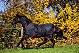 Kerbl 324476 Outdoordecke Rugbe Zero.1, 145 cm, schwarz/rot eingefasst