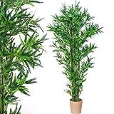 Bambus-Strauch, Echtholzstamm, Kunstbaum, Kunstpflanze, Bambusbaum - Variante: 160, 190 oder 220 cm