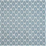 LINEN702Vinyl PVC Tischdecke 2Meter (200x 137cm) Marokkanischer Duck Egg Blau. Passend bis A 6-Sitzer Größe Rechteck Tisch, abwischbar, Textil Kunststoff Tischdecke (283)