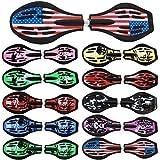 Waveboard Original Funtomia mit ABEC-11 Lager inkl. Tasche und CD (Es stehen verschiedene Farbdesigns zur auswahl) (Amerika / Flagge Design)