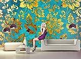 Fototapete GOLD BLUMEN ABSTRAKT Nr.8T-197 Bildtapete Poster Wandbild Wanddeko Aufkleber Bordüre Wandtatoo Rierenbild Reisenposter Kinderzimmer Sticker kids city wallpaper children wall mural