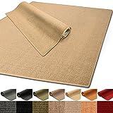 100% reines Sisal | Sisalteppich in verschiedenen Farben und vielen Größen (Natur, 66 x 130 cm)