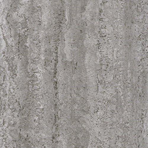 Klebefolie INDUSTRIAL-OPTIK BETON Dekofolie Möbelfolie Tapeten selbstklebende Folie, PVC, ohne Phthalate, grau, 67,5cm x 2m, 95µm (Stärke: 0,095 mm), Venilia 53145