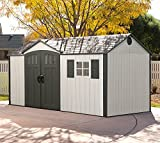 Lifetime Kunststoffgerätehaus, Gartenhaus Texas inkl. Fenster, 381x239 cm, Kunststoff Gartenschuppen