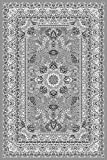Fabelia Orient Teppich Kollektion Marrakesh - Orientalisch-europäische Designs/klassisch und modern (160 x 230 cm, Casablanca/Grau 0207)