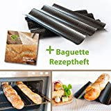 Baguette-Blech Baguette backen mit perforierten Backblech mit Antihaft-Beschichtung mit Baguette Rezepte Ofenblech
