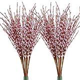 Famibay Künstliche Winter-Jasminblumen 20 Stück PE Kunstblumen für Zuhause Hochzeit Party Store Dekoration, Pink-01, 20 Stück