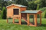 Miweba Hasenstall 'My Animal' MH-03 Doppelstockhaus mit Garten Hasenvilla Kaninchenkäfig Hasenkäfig Kaninchenstall 2 Ebenen