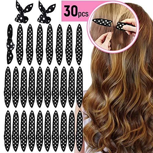 Lockenwickler Curler, 30 Stück Schaumstoff Haar Rollen Locken, Magic Lockenwickler Über Nacht Haar-Styling-Tools für Langes Haar, Mittellanges Haar