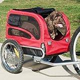 DOGGYHUT Hundeanhänger Hunde Fahrradanhänger Hundetransporter-MEDIUM ROT 60301-01