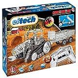 Eitech 00023 - Metallbaukasten RC Traktor mit Anhänger, 2.4 GHz