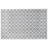 BUTLERS Colour Clash Outdoorteppich Mosaik 180x120cm - Taupe-Weißer Flachgewebe Teppich für Innen- und Außenbereich